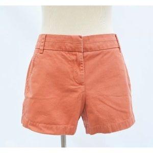 "J crew chino terracotta orange broken in shorts 4"""